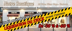 Boutique facade liquidation