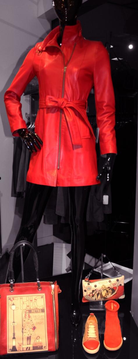 Veste rouge Sonia, Zina Cuir à 459 € Sacs à main Barbara Rihl  Chaussures, IKKS