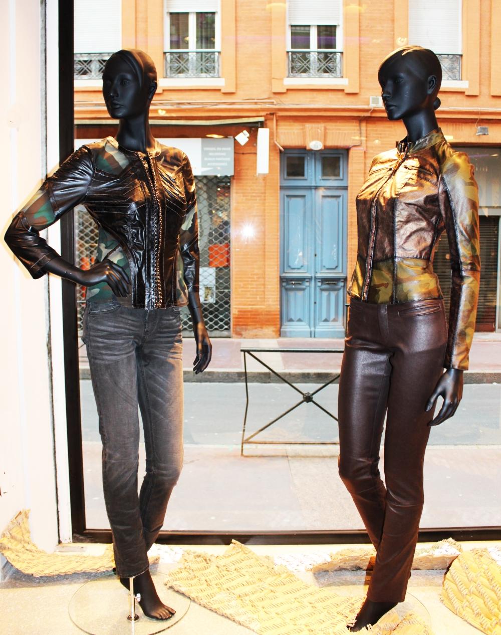 Silhouettes blouson et pantalon cuir femme Don Vanquisher