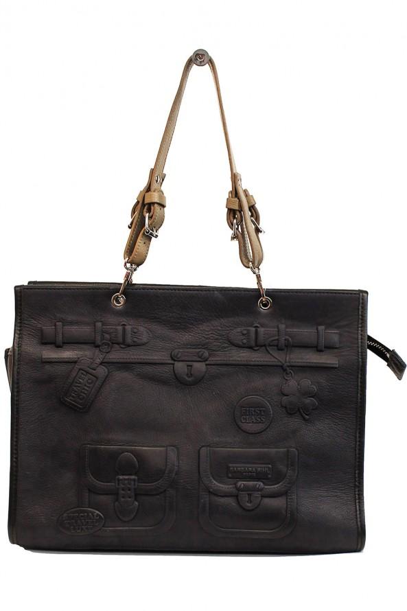 Sac en cuir noir Barbara Rhil a3 not 43 en vente à 338€