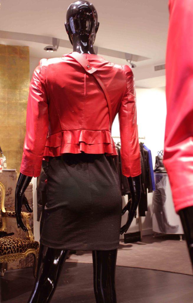 Dos veste cuir femme rouge Flo Clo