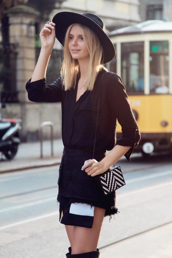 Look noir sur le blog mode de Tuula