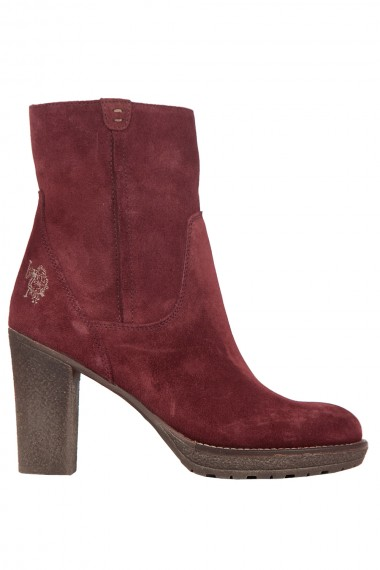 Boots à talon bordeaux US Polo Assn