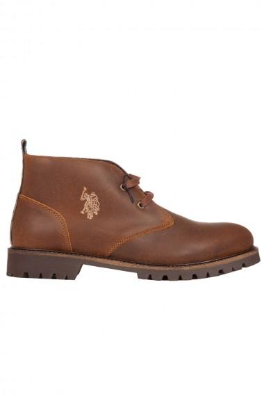 Chaussure homme  en suede marron US Polo Assn Faber1