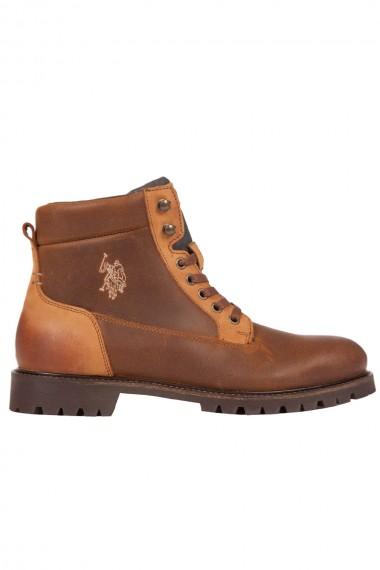 Chaussure homme en suede marron US Polo Assn modèle Jorge