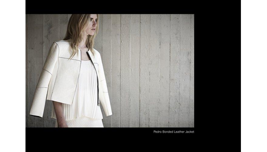 blouson en cuir blanc femme Muuba