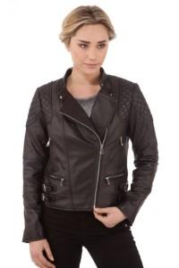Perfecto cuir noir biker, Sélection Cesare Nori, 399,00 €