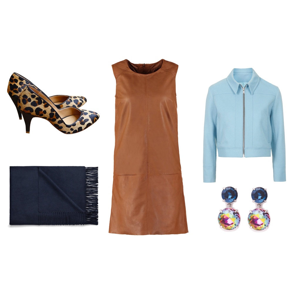 tenue robe en cuir pour aller au bureau