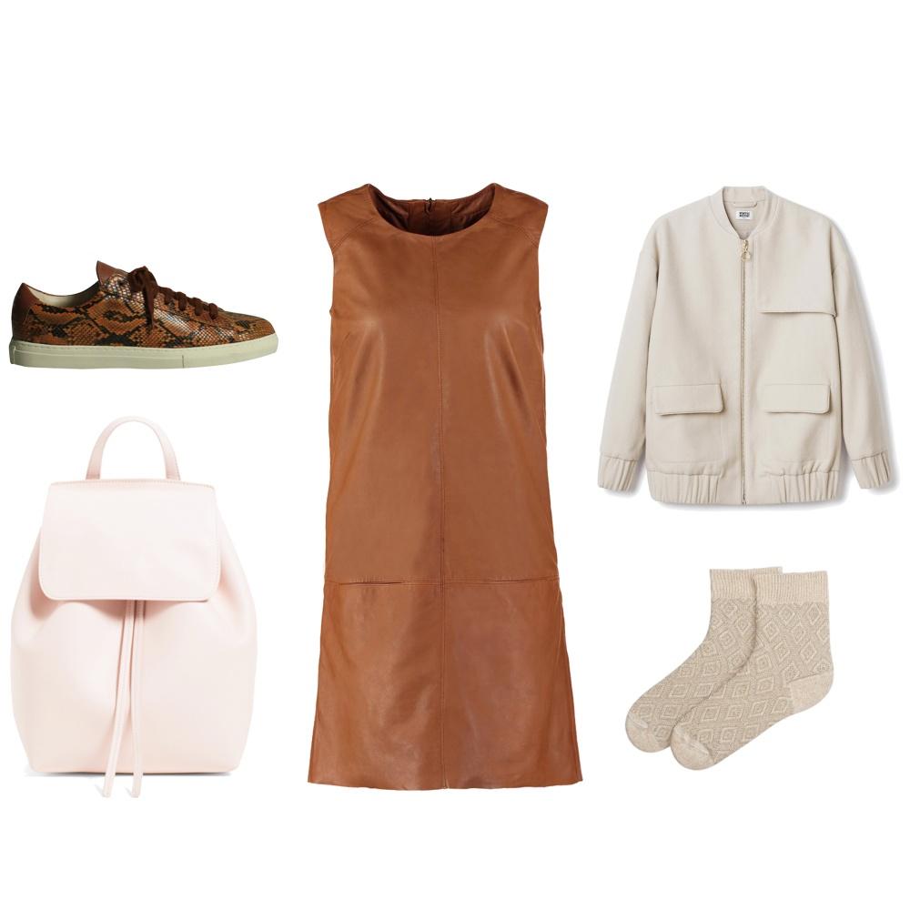 tenue robe en cuir pour la journee