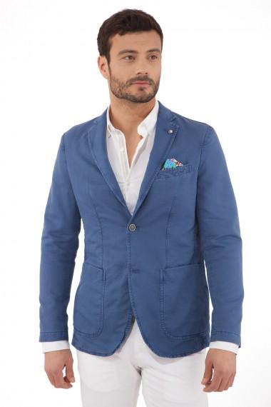 Blazer en coton bleu pour homme ATPCO modèle Alan 60