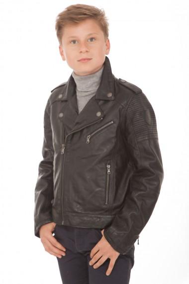 Petit perfecto cuir noir enfant