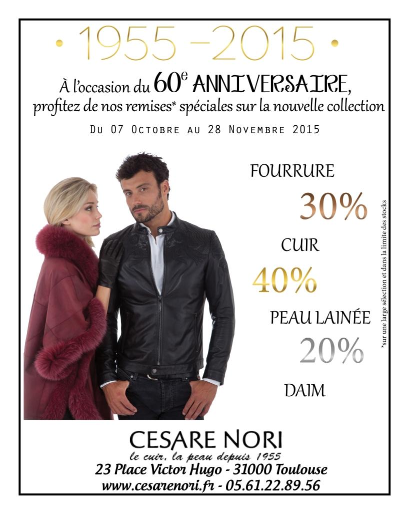 60 ans Cesare Nori : promo spéciale