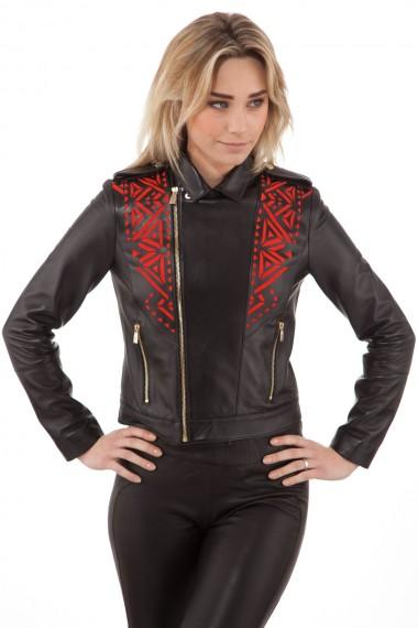 blouson-en-cuir-d-agneau-noir-femme-versace-g33523