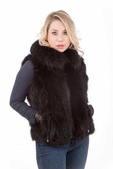 gilet-zippe-fourrure-de-renard-noir-femme-gilet-selection-cesare-nori
